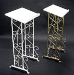 Gold & Chrome Podium Rental